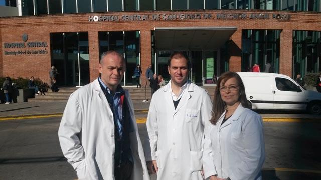 Pedro Piantoni, Tomás Pena y Nora Bruno.