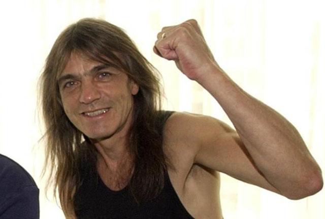 MALCOLM YOUNG. Cofundador y compositor de AC/DC.
