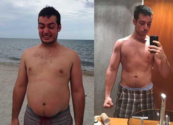 CAMBIOS. El antes y el después de uno de sus alumnos.